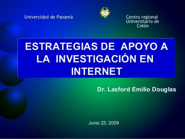 Estrategias de apoyo a la investigación: Investigación