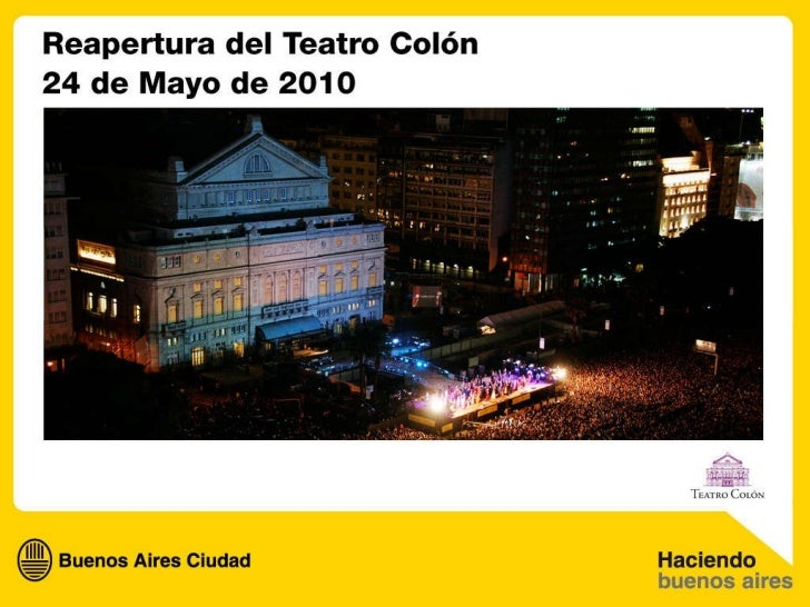 Reapertura del Teatro Colón