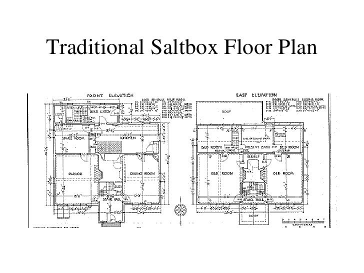 Colonial HousesMoreton House Hatfield  Massachusetts    Traditional Saltbox Floor Plan