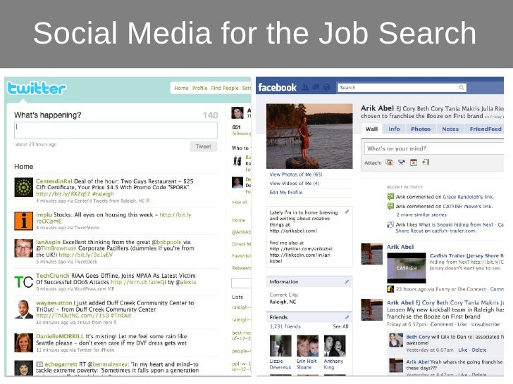 Colonial Jobseekers - Social Media for the Job Search