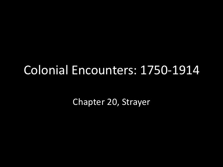 New Imperialism: Colonial encounters