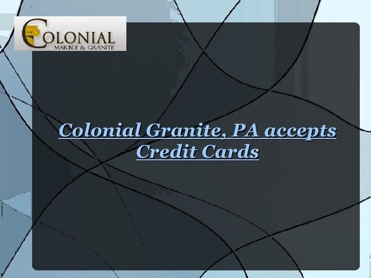 Colonial Granite, PA