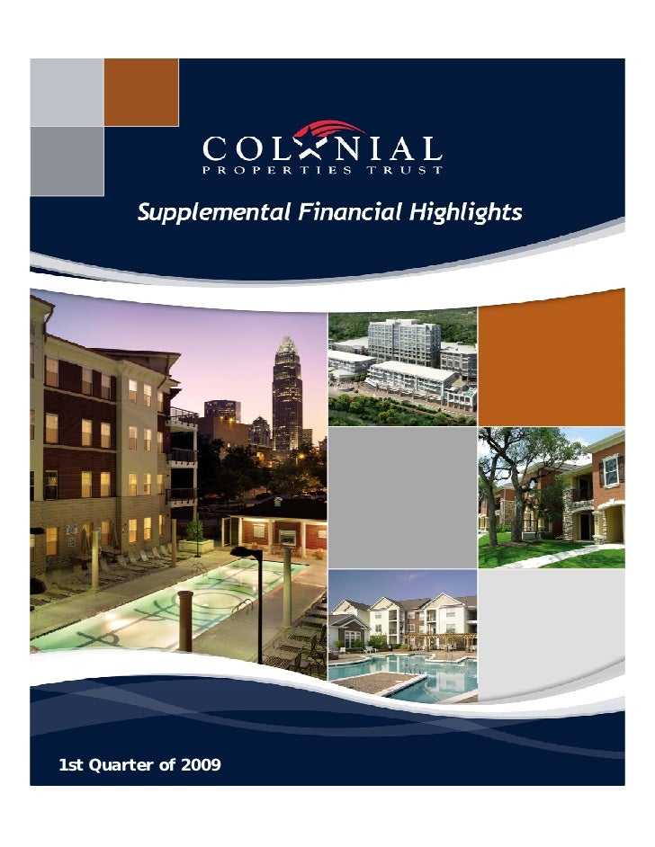 Q1 2009 Earning Report of Colonial Properties Trust