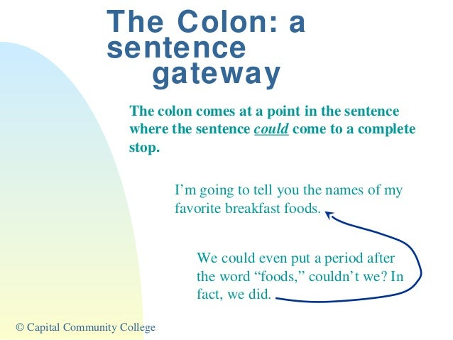 Colons