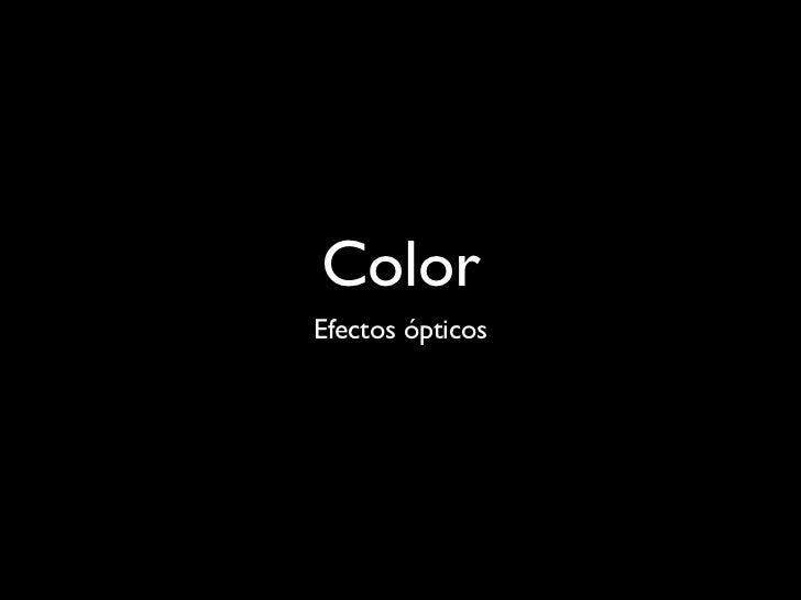 Color Efectos ópticos
