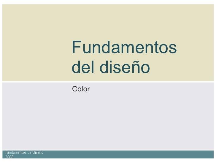 Fundamentos del diseño Color