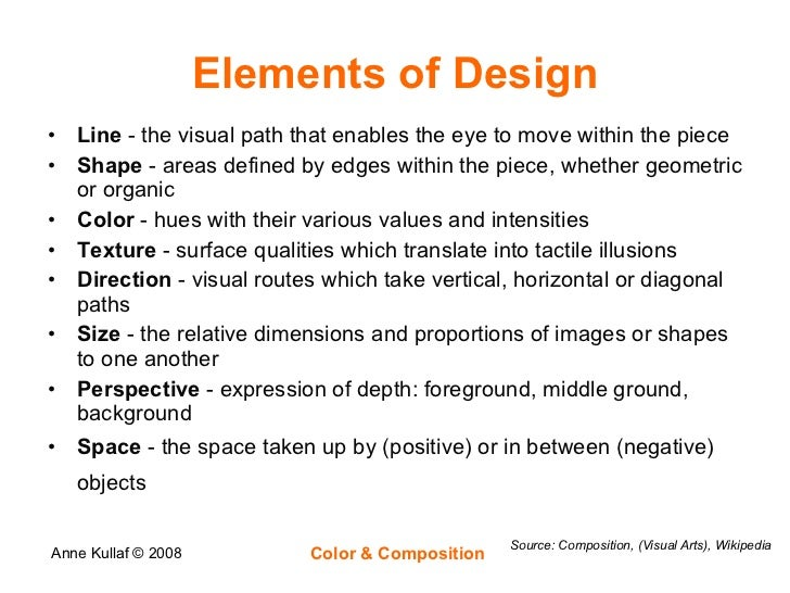 Elements Of Design Colour Definition : Color composition