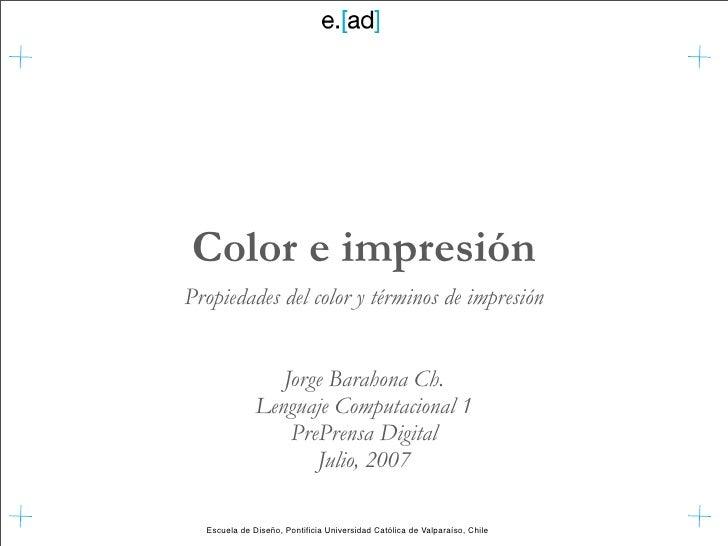 Color e Impresion