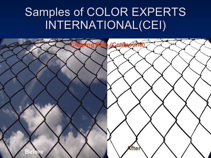 Samples of COLOR EXPERTS INTERNATIONAL(CEI) Before After Clipping Path (Compound)