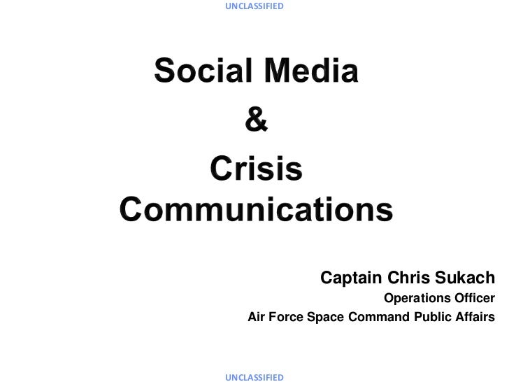 UNCLASSIFIED               Captain Chris Sukach                        Operations Officer    Air Force Space Command Publi...