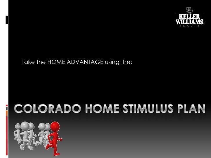 Colorado home stimulus plan online