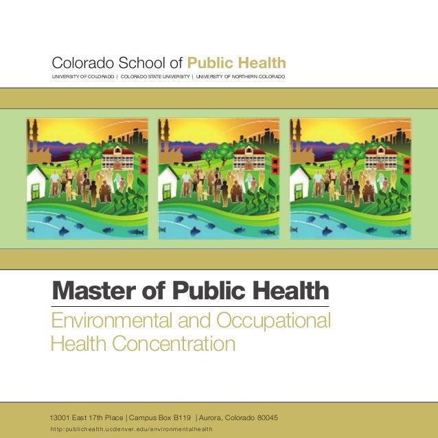Colorado school of public health environmental and occupational health master of public health
