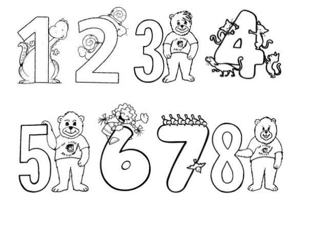 Colorear los numeros