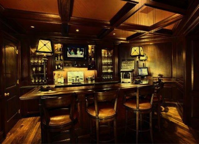 Man Cave Bar Shelves : Colorful led lighted liquor bottle shelves display