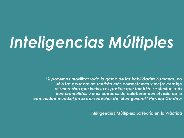 Inteligencias Múltiples Infantil