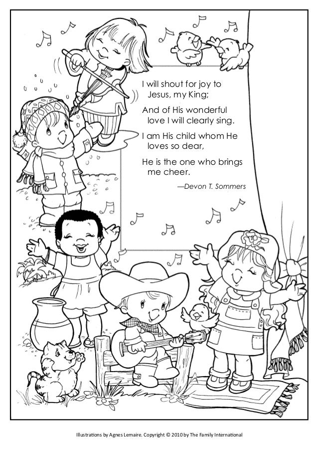 coloring pages   u0026quot shout for joy u0026quot  and  u0026quot father we thank thee u0026quot