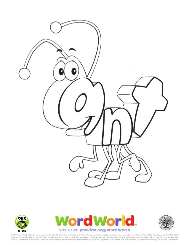 Wordworld shark coloring pages coloring coloring pages for Word world coloring page