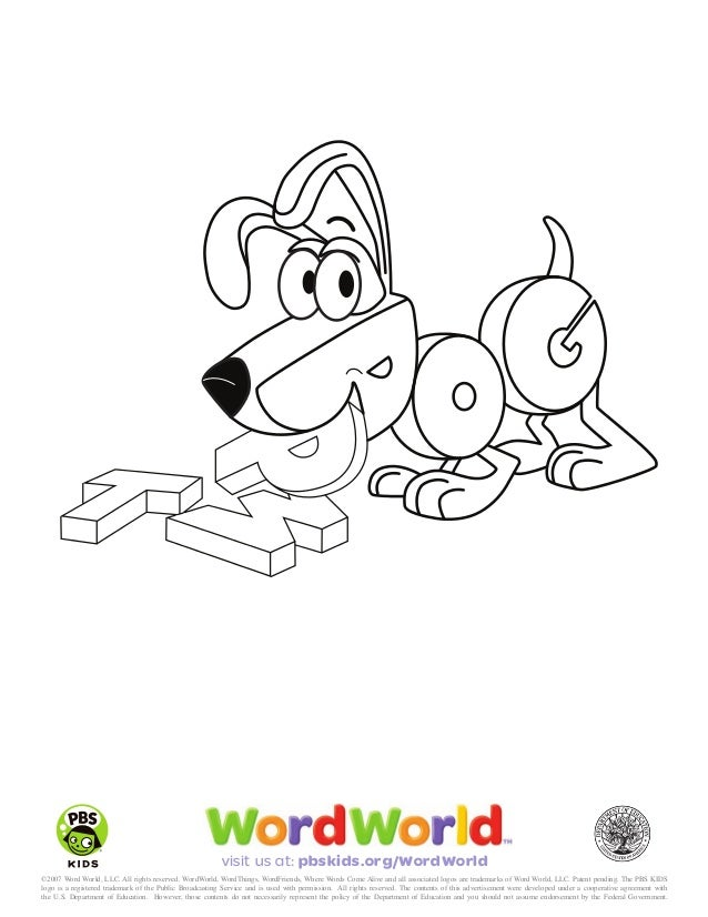 Word World Coloring Pages Word World Coloring Pages