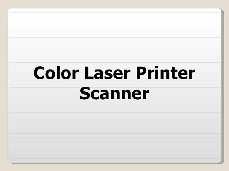 Color Laser Printer Scanner