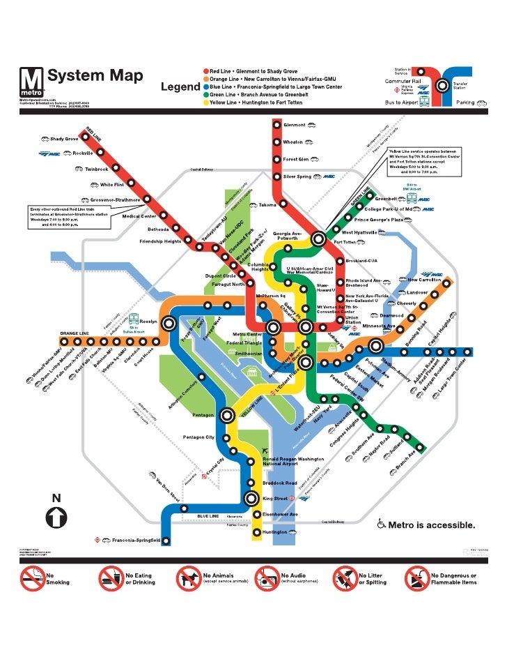 Washington Area Transit Authority Map