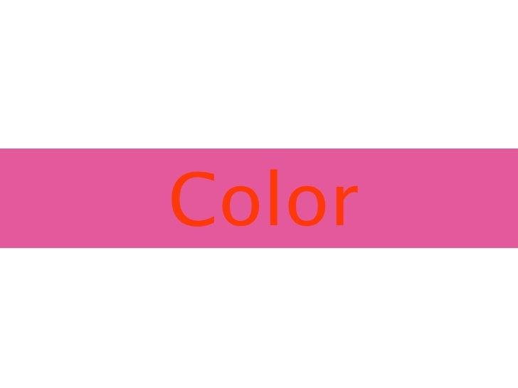 Color presentation