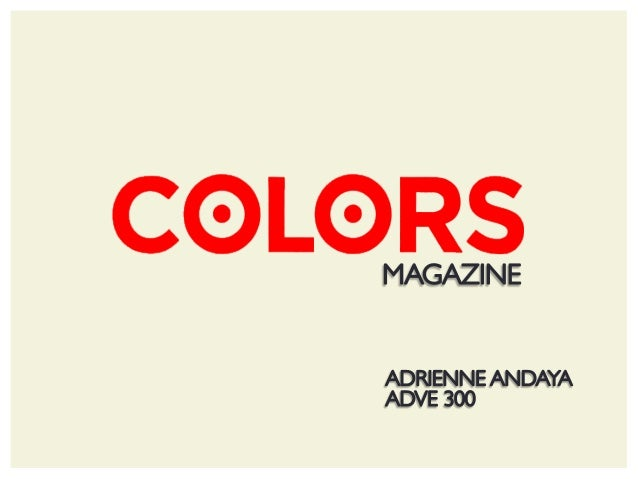 COLORS Magazine App Generation