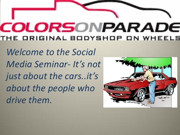 Colors on Parade Social Media Presentation