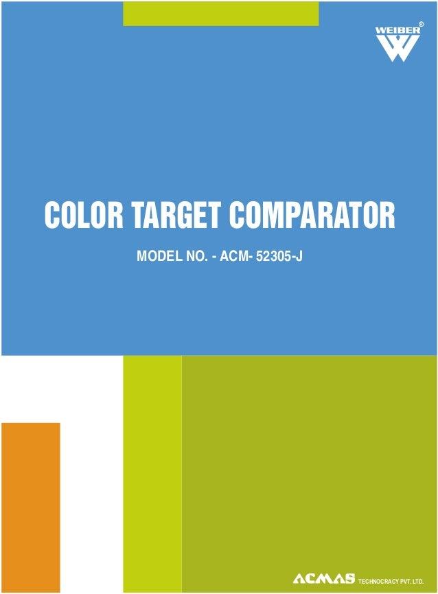 TECHNOCRACY PVT. LTD. COLOR TARGET COMPARATOR MODEL NO. - ACM- 52305-J R
