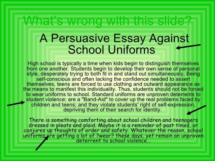 reasons against school uniforms essay