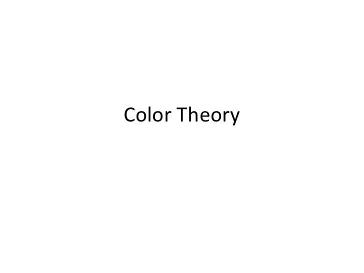 Color Theory<br />