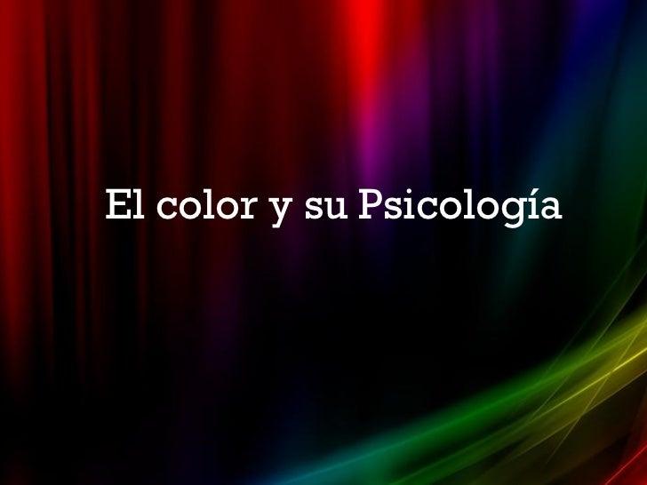 El color y su Psicología