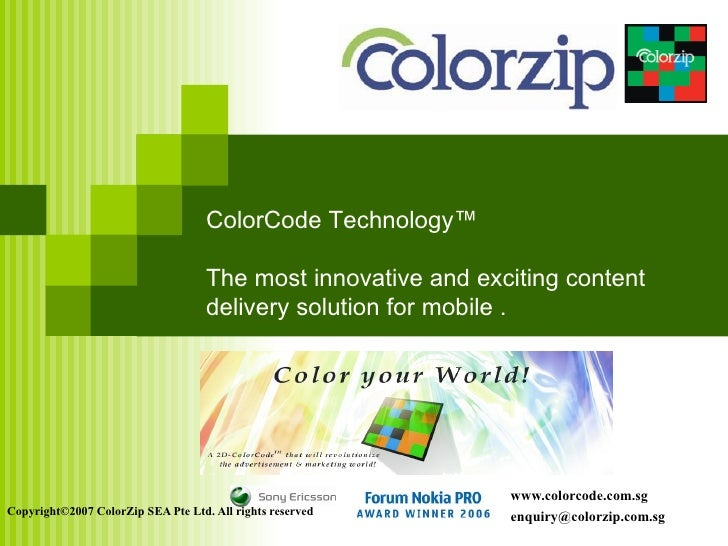 ColorCode Technology™                                      The most innovative and exciting content                       ...