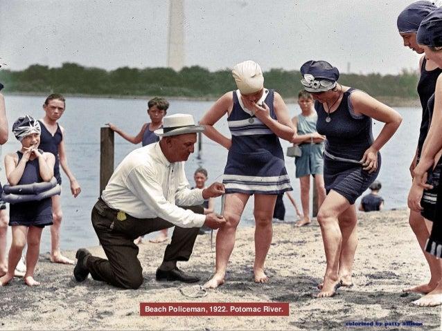 Beach Policeman, 1922. Potomac River.