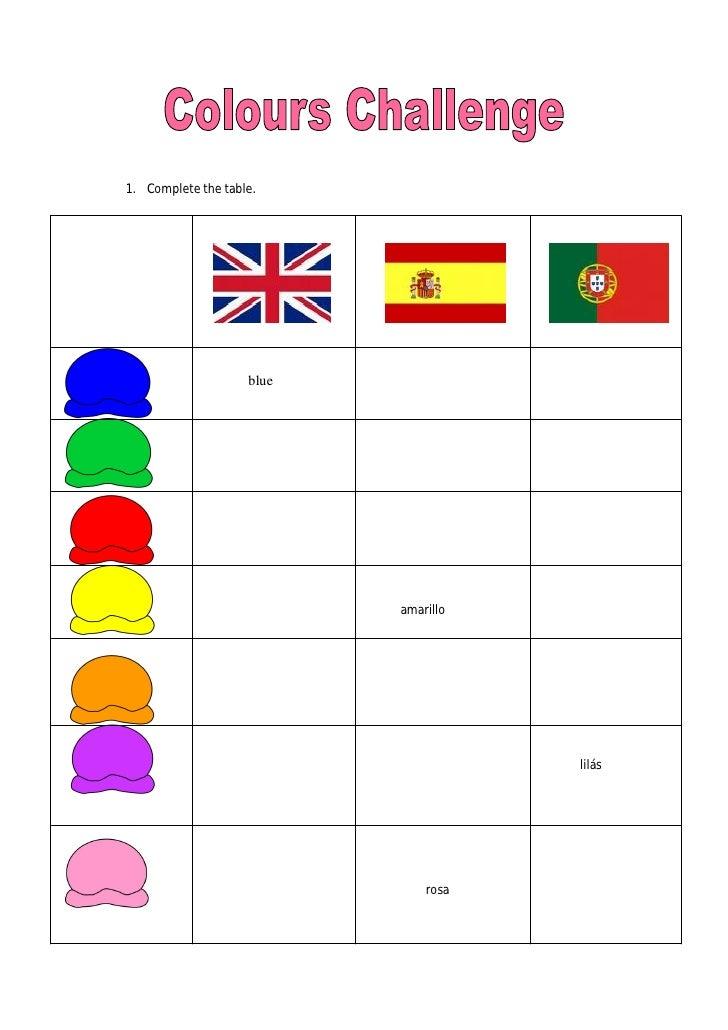 Colours Challenge