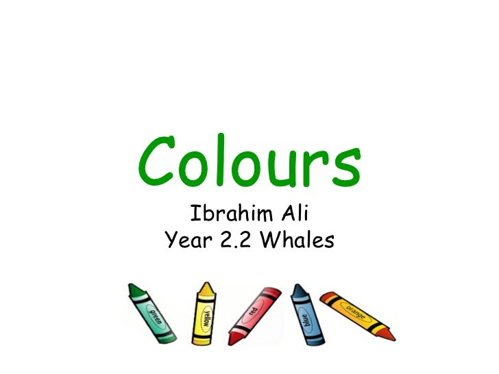Colours Ibrahim Ali Year 2.2 Whales