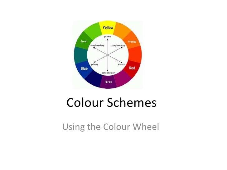 Colour SchemesUsing the Colour Wheel