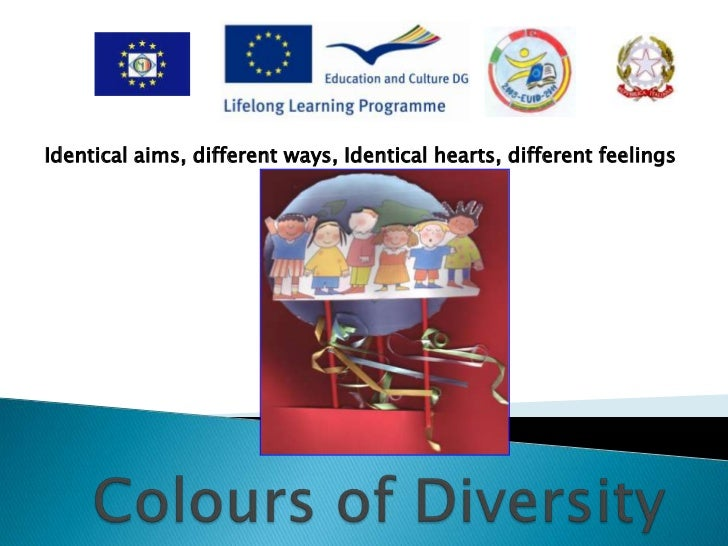 Identical aims, different ways, Identical hearts, different feelings <br /> <br />ColoursofDiversity<br />