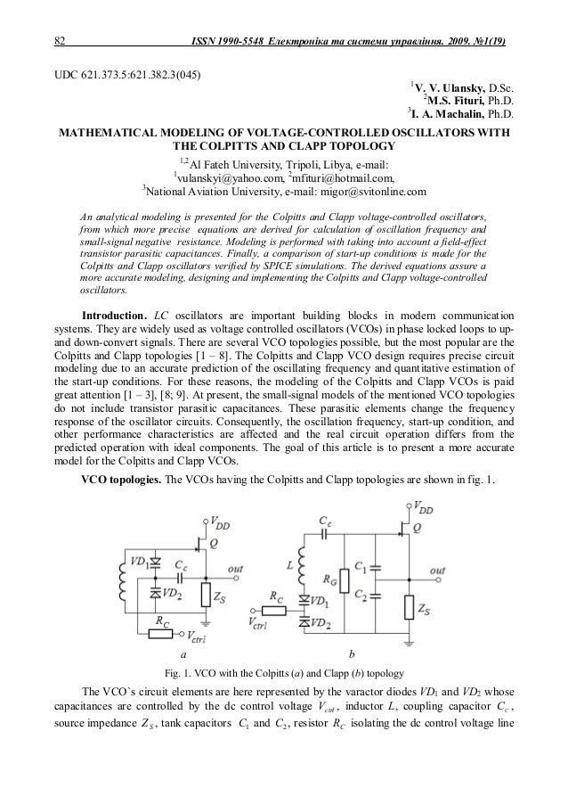 82                                  ISSN 1990-5548 Електроніка та системи управління. 2009. №1(19)UDC 621.373.5:621.382.3(...