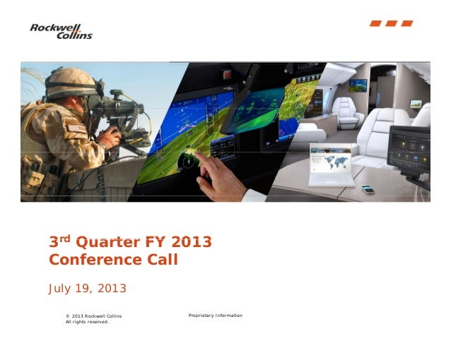 Q3 2013 Rockwell Collins, Inc. Earnings Conference Call