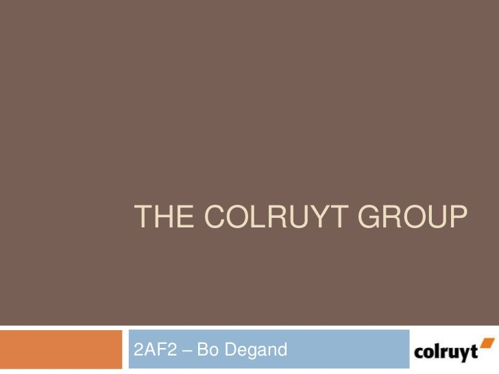 THE COLRUYT GROUP2AF2 – Bo Degand