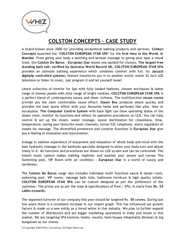 COLSTON CONCEPTS – CASE STUDYA brand known since 2000 for providing exceptional bathing products and services, ColstonConc...