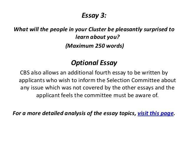 Mba Essay Samples