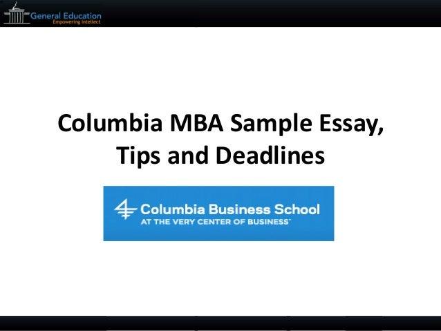 Columbia mba essays