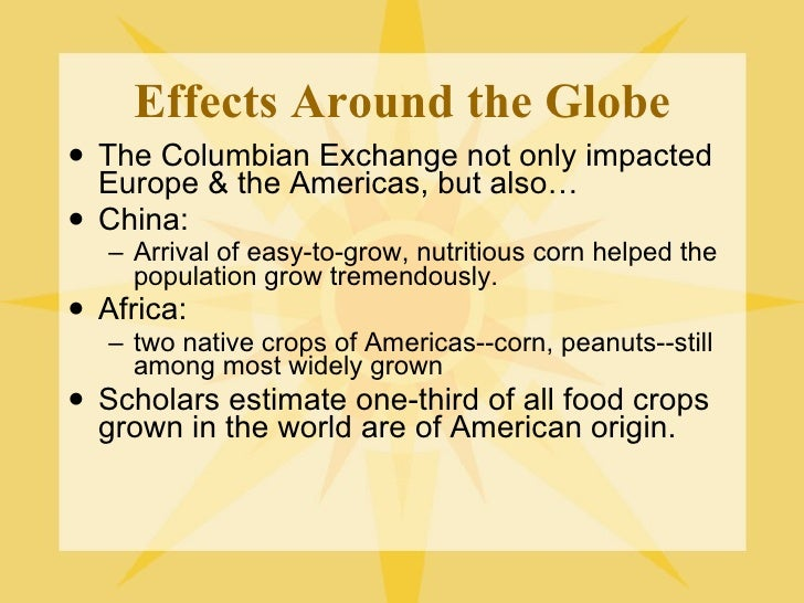 The columbian exchange and global trade worksheet answers