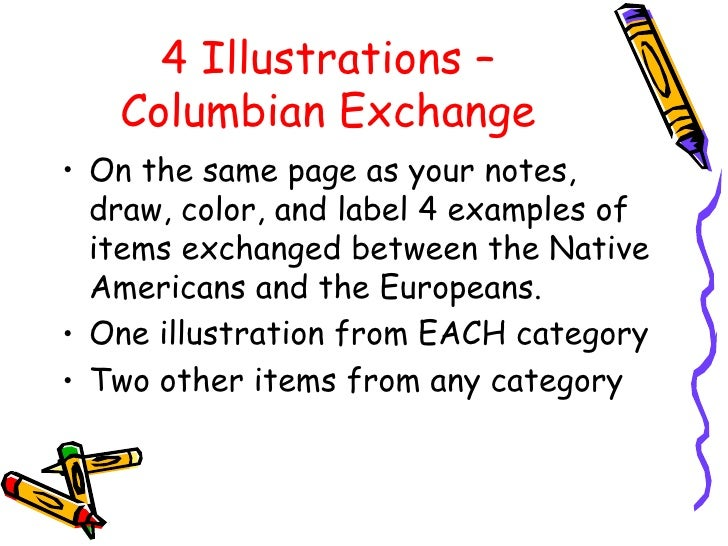 pros cons columbian exchange Get an answer for 'what were some of the positive aspects of the columbian exchange' and find homework help for other what were the cons of the columbian exchange.