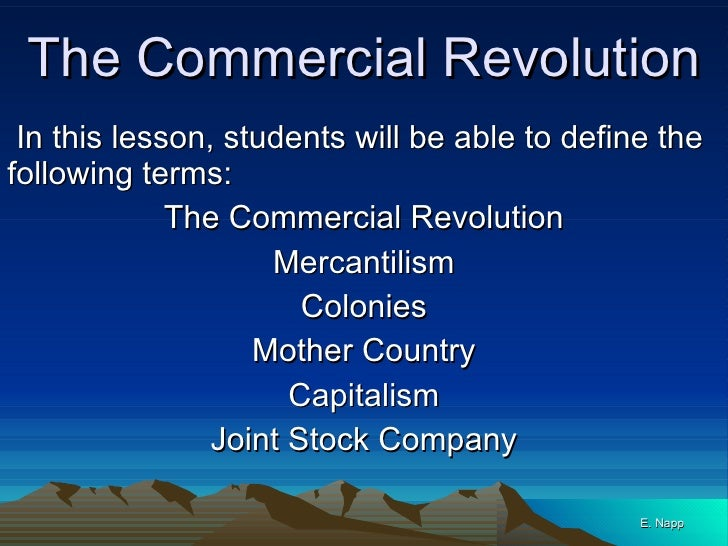 commercial revolution essays