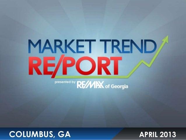 Columbus, GA-  April 2013 Market Trends