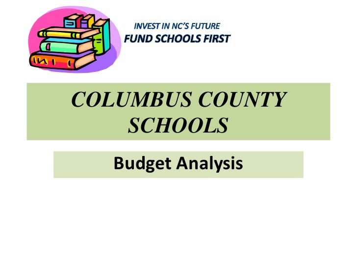 Columbus county schools budget analysis revised