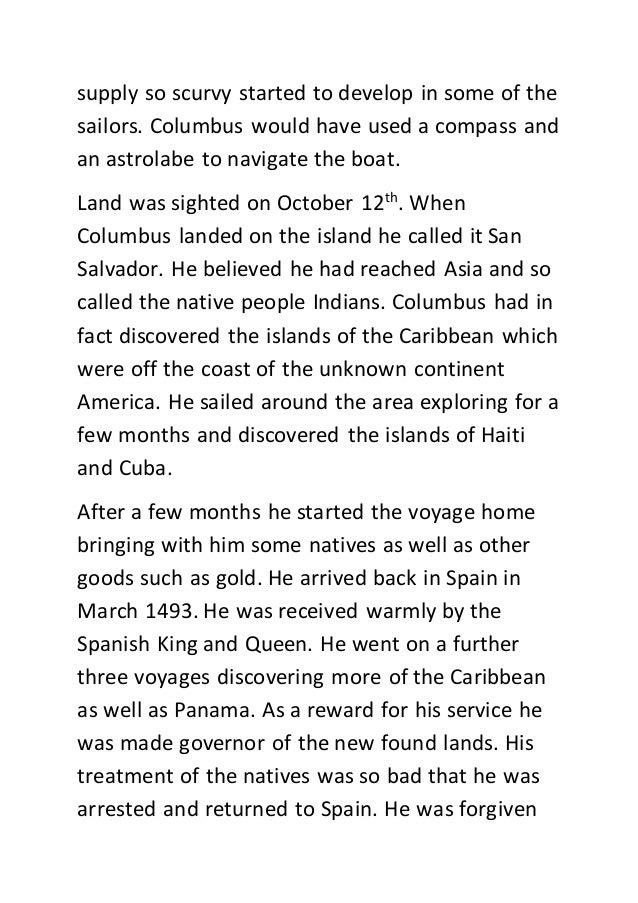 Columbus Essay
