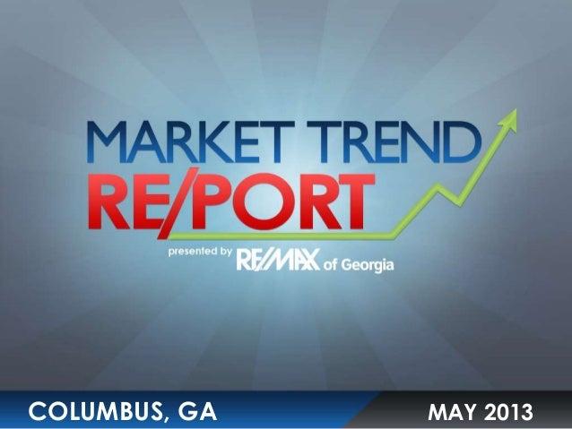 Columbus, GA May 2013 Market Trend Report